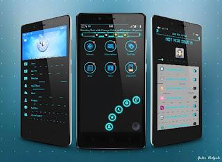 BBM Mod Chat Me Blue Light V3.0.1.25 Apk