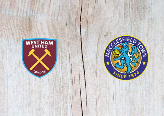 West Ham vs Macclesfield - Highlights 26 September 2018