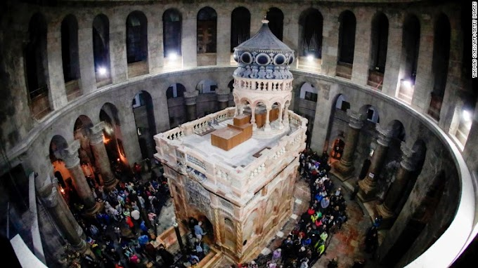 Site of Jesus' tomb re-opens following painstaking restoration in Jerusalem
