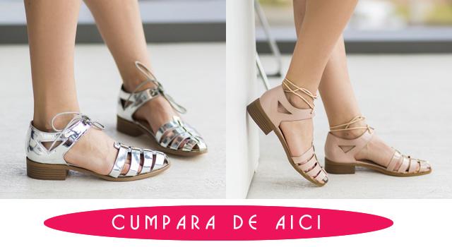 Pantofi dama casual argintii / bej de vara ieftini la moda