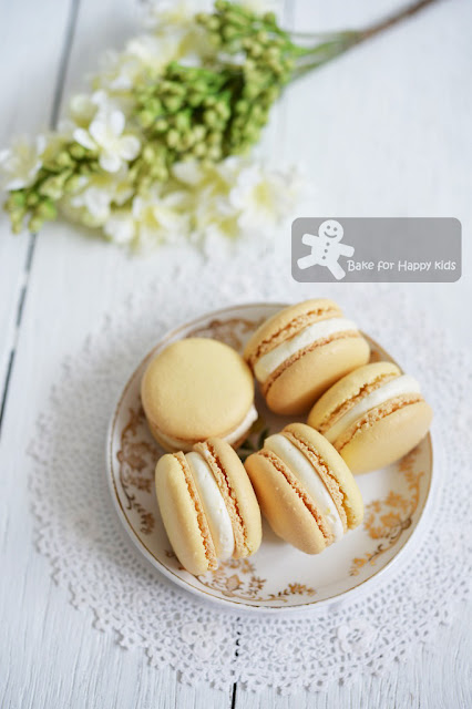 French macarons elderflower Swiss meringue buttercream