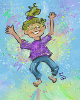 Yipee! celebratory art by Traci Van Wagoner