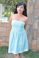 Sahana New cute Telugu Actress in Sky Blue Small Sleeveless Dress ~  Exclusive Galleries 046.jpg