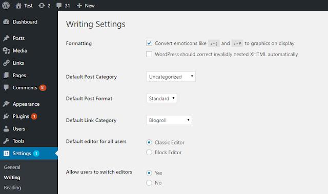Downgrade Gutenberg Editor WordPress ke Tampilan Lama