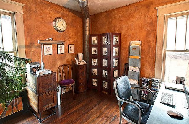 Desain Interior Cat Rumah Warna Orange Terbaru 2019