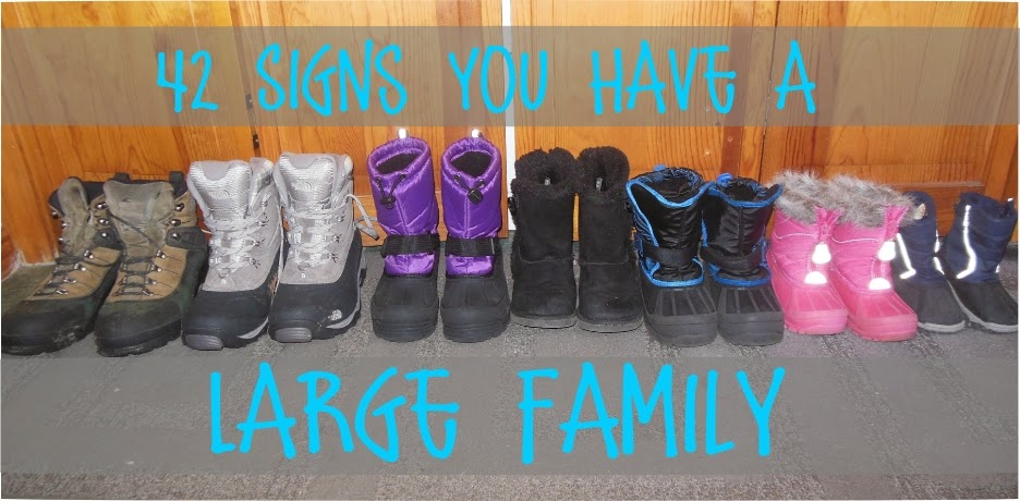42 Signs You Have a Large Family -- a hilarious look at the things only people from big families can relate to  {posted @ Unremarkable Files}