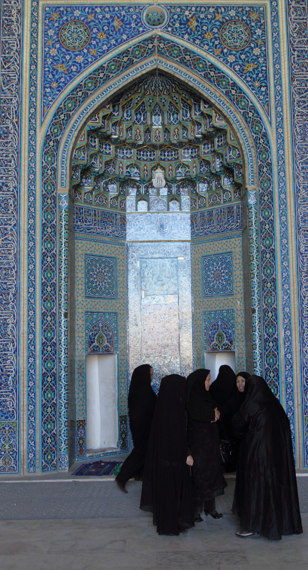 Iranian Women finishing their prayers at Masjid e-Jame, Yazd, Iran