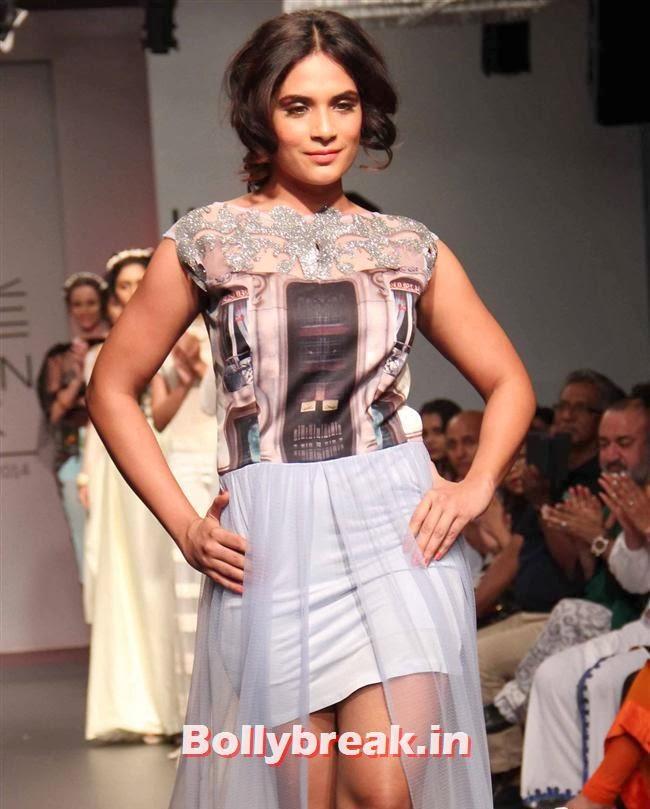 Richa Chadda, Bollywood Actresses at Lakme Fashion Week 2014