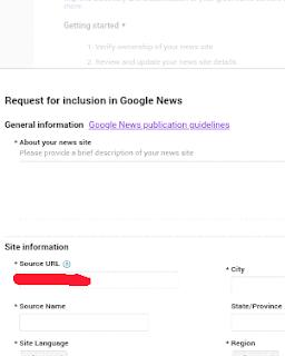 Daftar google news melalui pusat penerbit