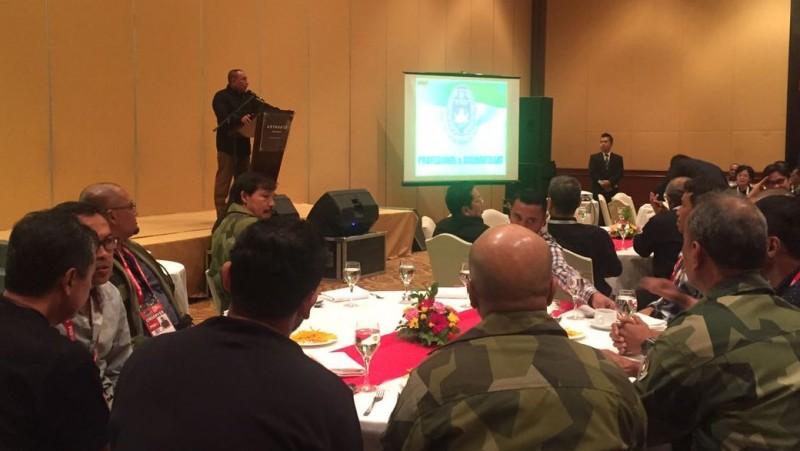 Edy Rahmayadi berpidato di Kongres Tahunan PSSI 2017