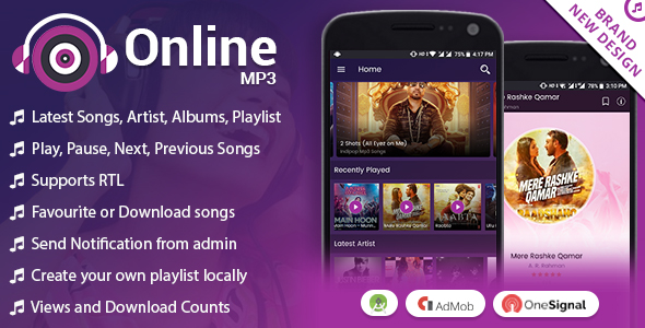Dijual SC Android Online MP3 with Material Design