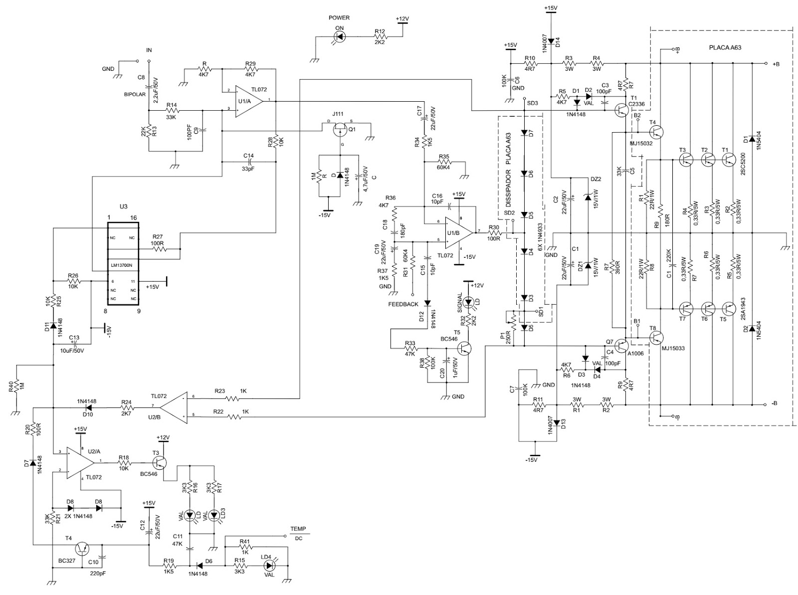 Electro Help Stereo Amplifier Circuits For Hobbyists
