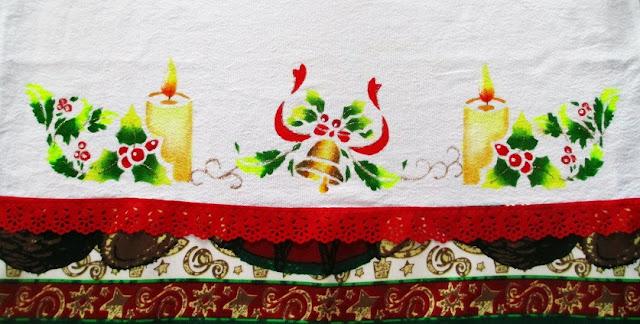 pano de copa velas natal stencil