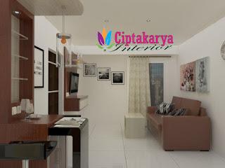 Desain-Interior-2 bedroom-apartemen-bogor-valley