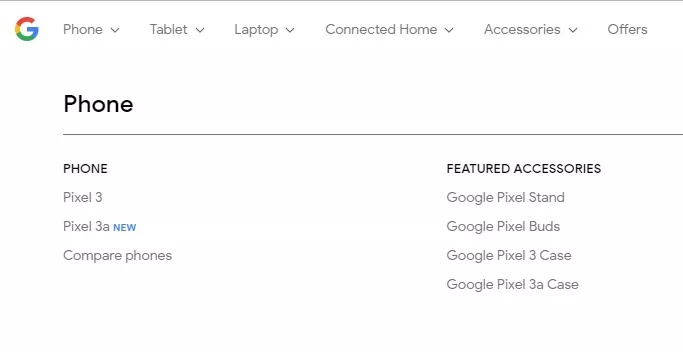 Google's own website just confirmed the Pixel 3a