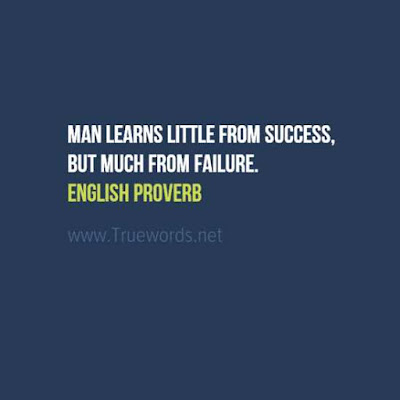 Man learns little from success, but much from failure