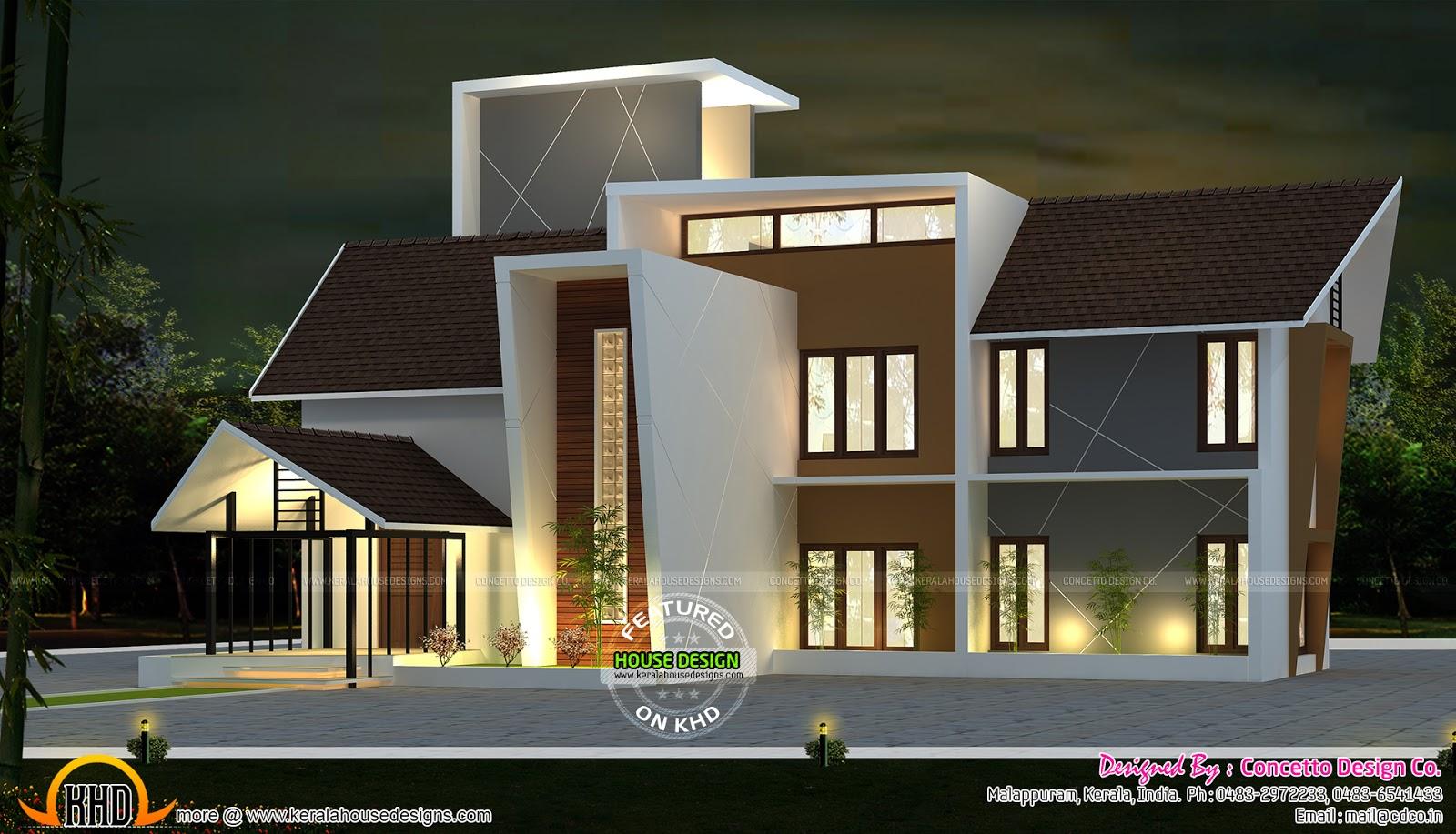Modern Villa In 2814 Sq Ft Kerala Home Design And Floor