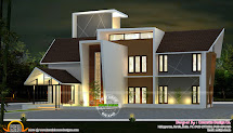 Modern Villa In 2814 Sq-ft - Kerala Home Design And Floor