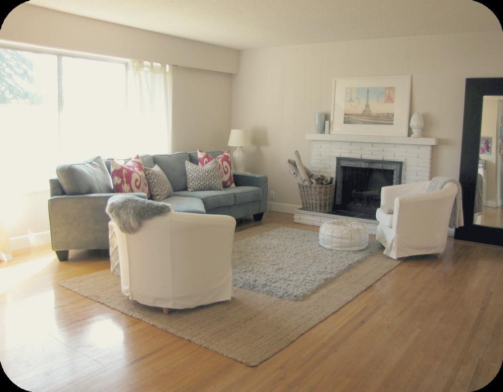 My House of Giggles: New Teal Velvet Sofa in the Living Room