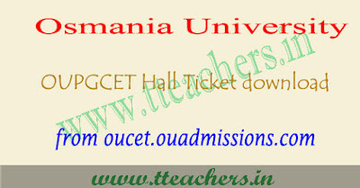 OUCET 2019 hall ticket download, ou pgcet results 2019