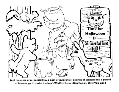 halloween safety coloring pages - virginia wildfire information and prevention halloween