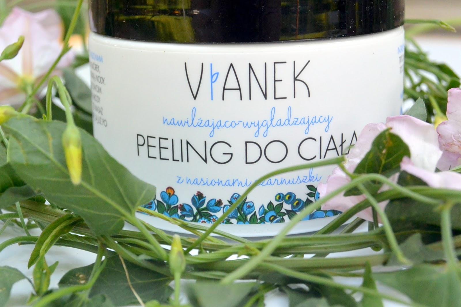 Upleciony z polskich kwiatów i ziół VIANEK | Nawilżająco - wygładzający peeling do ciała