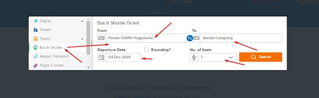 cara pesan tiket damri via traveloka
