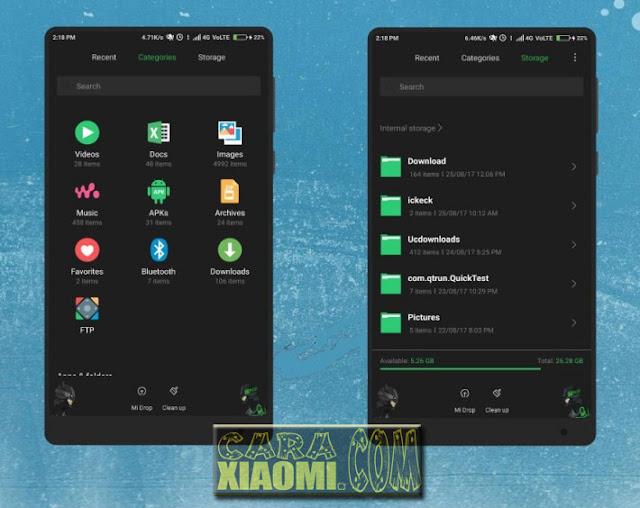 tema Black OS Light Mtz For MIUI