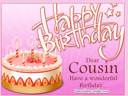 Happy birthday wishes for cousin female