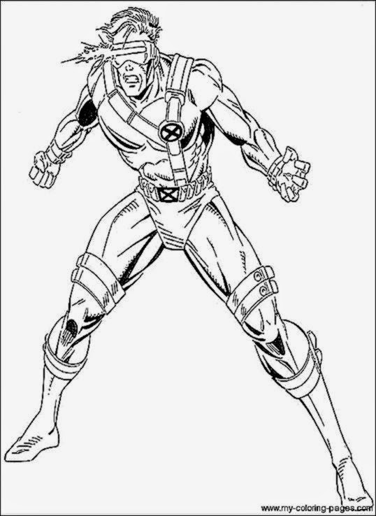 rogue x men coloring pages - photo#32