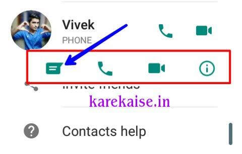 whatsapp chat ke option ko open kare