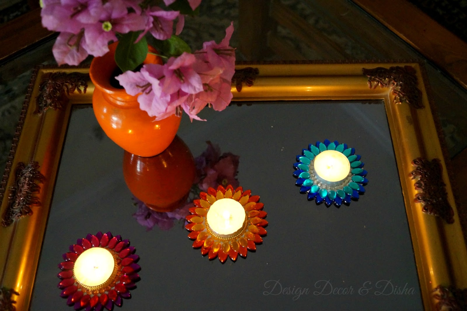 Diwali Decoration Ideas And Crafts Design Decor And Disha Diwali Craft Idea Lotus Tealights Diy