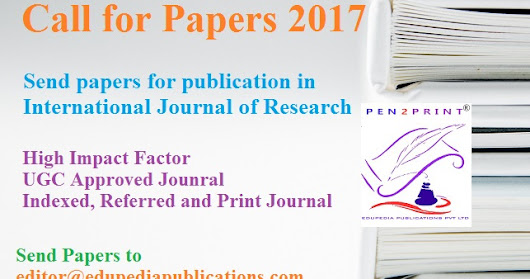 Call for Papers 2017 IJR