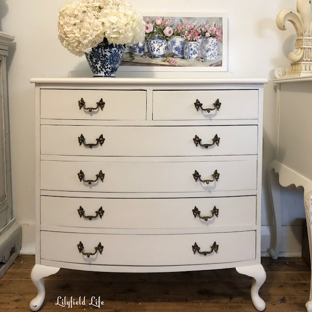 hand painted bow front drawers Lilyfield Life