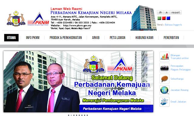 Rasmi - Jawatan Kosong di (PKNM) Perbadanan Kemajuan Negeri Melaka Terkini 2019
