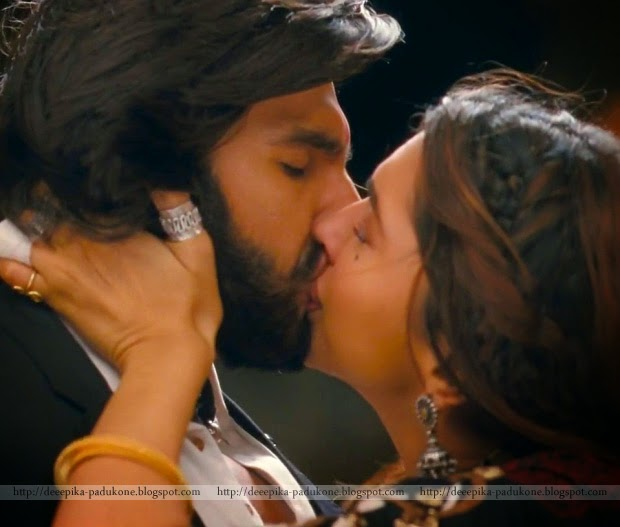 Sexy Lip Lock Stills Of Dipika And Ranveer Singh 1