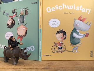 Geschwister! Bilderbuch von Rocio Bonilla Wendebuch Geschichte aus zwei Perspektiven - Bruder und Schwester, Jumbo Verlag, Kinderbuchblog Familienbücherei