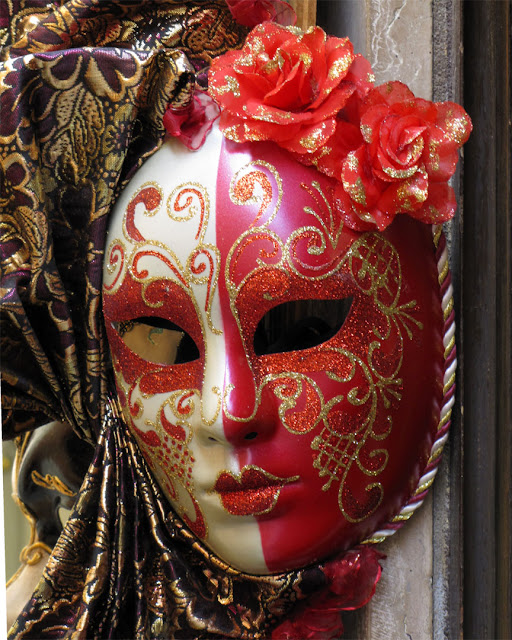Carnival mask outside a shop, Somewhere in Santa Croce, Venice