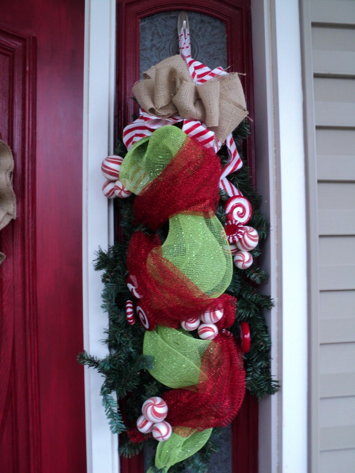 Burlap N Bling: Front Door Christmas Decor