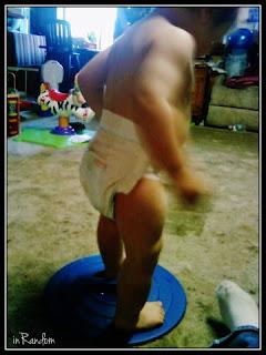 dancing in huggies diapers