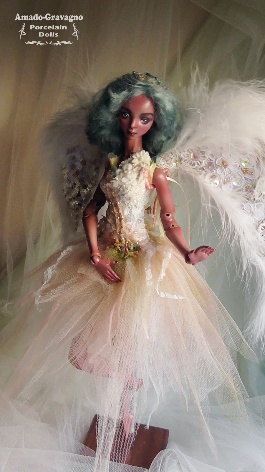 balck girl magic fairy angel ballerina porcelain bjd doll