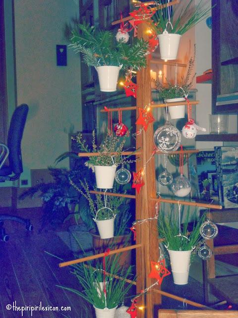 Wooden homemade Christmas tree