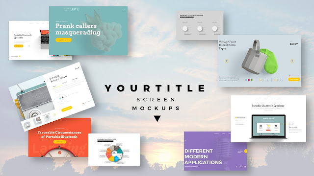 Modern Presentation Screen Mockup with Free PowerPoint Templates Slide 5
