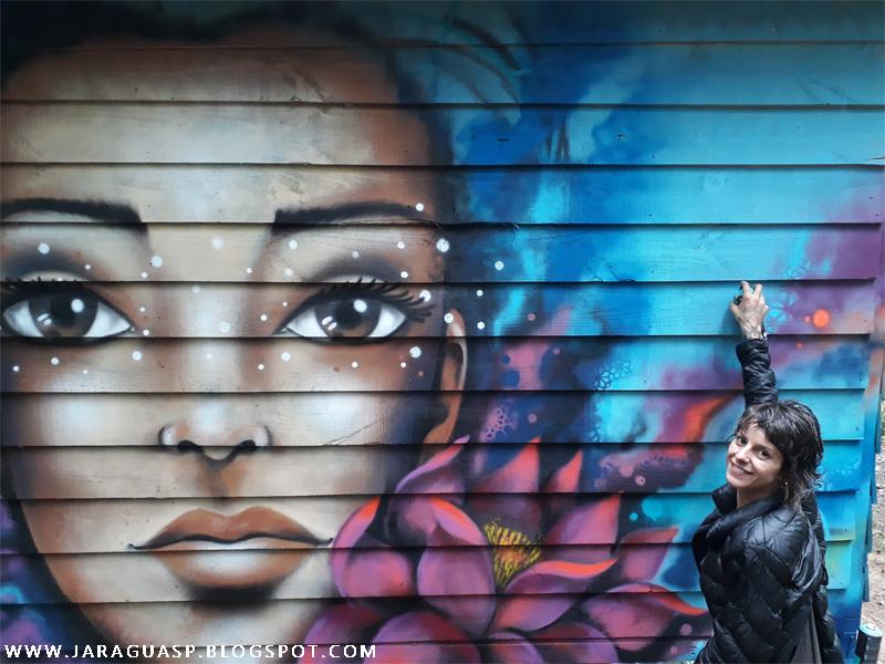 Grafite da artista plástica Mari Pavanelli. Foto: Marinaldo Gomes Pedrosa