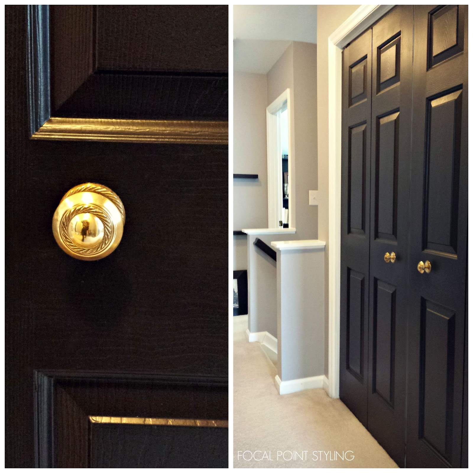Focal Point Styling How To Paint Interior Doors Black