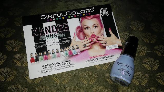 Fierce Voxbox Beauty Box Influenster beauty subscription box sinful colors nail polish kandee johnson
