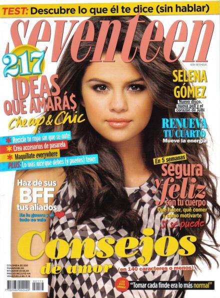 Selena Gomez Covers Seventeen Magazine Mexico 2011 Issue