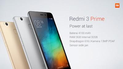 Spesifikasi Harga Xiaomi Redmi 3 Prime