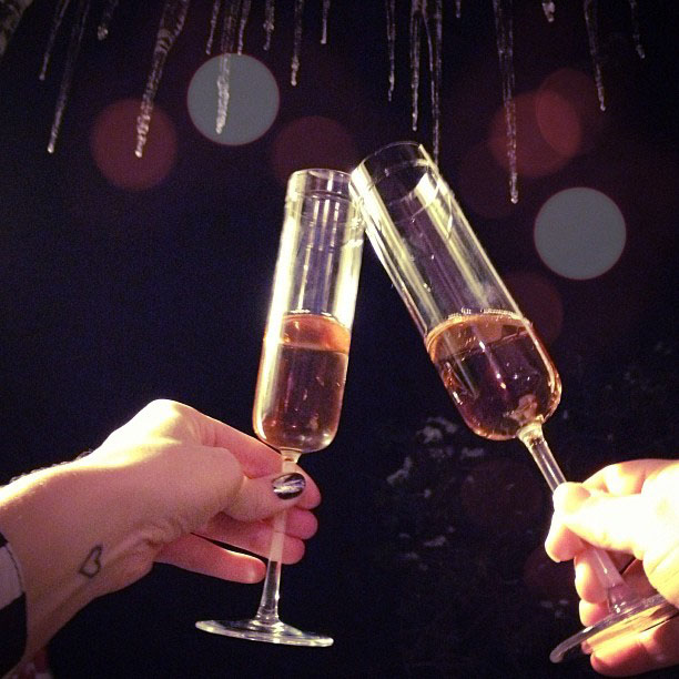 Happy New Year, Champagne toast