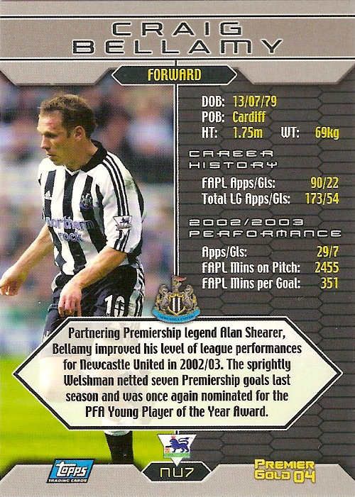 Topps Premier Gold 2004-Leeds Seth Johnson-LU2